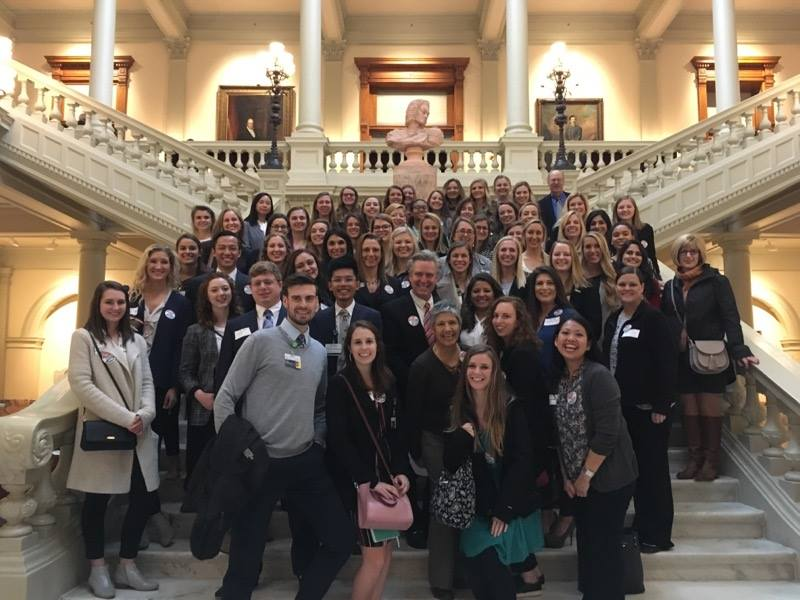 2019 Georgia Occupational Therapy Hill Day: Therapists line the steps of the state capital