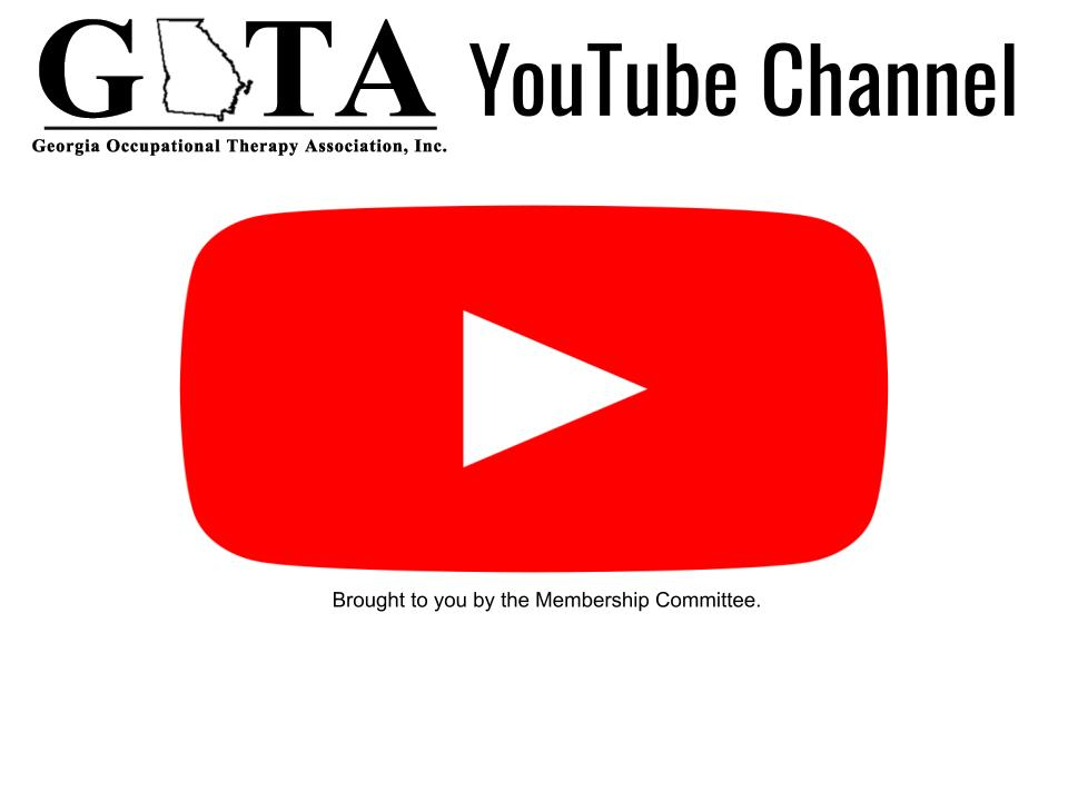 GOTA YouTube Channel  stated at top of image with the large red play symbol from YouTube. Below image states brought to you by the membership committee